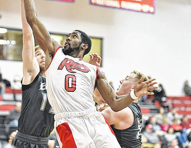 Rio Grande senior Kenny Council had 17 points and 11 rebounds in the RedStorm's 80-64 loss to No. 12 Indiana University East, Tuesday night, at the Newt Oliver Arena.