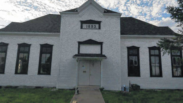 Vinton Village Hall, pictured, which has stood on Clay Street since 1893, is physically unchanged but is better for a new coat of paint both inside and out, window frames in black to stand out from the white exterior and interior, new carpet and other improvements.