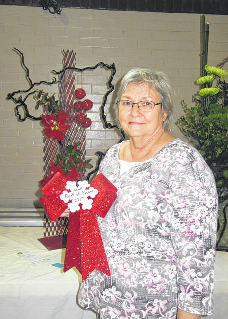 Shelia Curtis was awarded Best of Show at the Meigs County Garden Clubs' annual Christmas Flower Show.