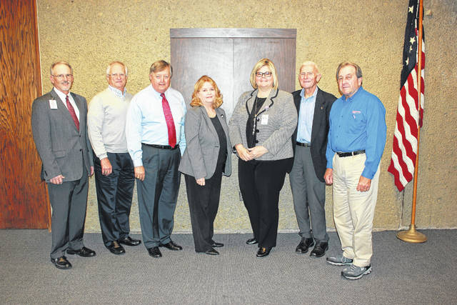 Pictured left to right are Mike Canady, CEO, Holzer Health System; Jim Morrison, outgoing President; John Jones, President-Elect; Linda Jeffers-Lester, Foundation Manager, Amee Rees, Community Fundraising Manager; Greg Ervin, Director and Mike Northup, Secretary-Treasurer. Not pictured Shayna Chapman, Vice President.