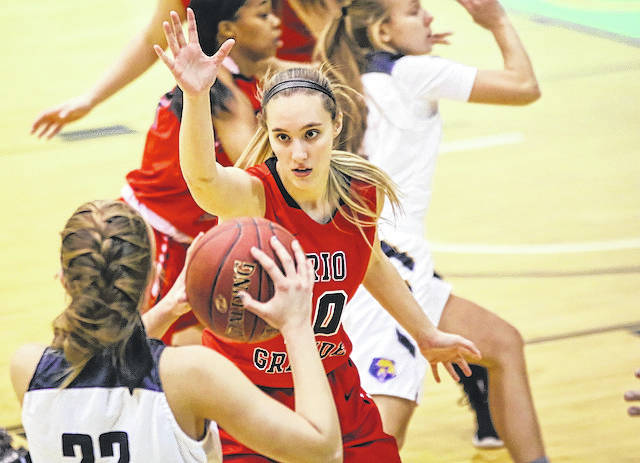 Rio Grande's Chelsy Slone led four double-digit scorers with 15 points in the RedStorm's 78-61 win over West Virginia University-Tech, Saturday afternoon, at the CCHS Athletic Complex in Charleston, W.Va. The win was a program-record 17th straight for Rio Grande.
