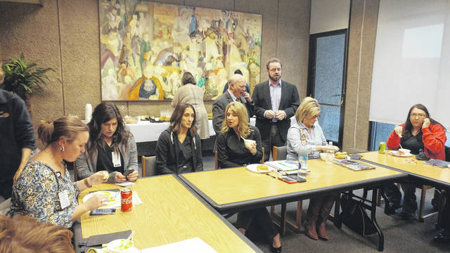 Members of the drug-fighting coalition Gallia Citizens for Prevention and Recovery have gathered in the Holzer French 500 room in the past to coordinate recent opioid epidemic fighting efforts.