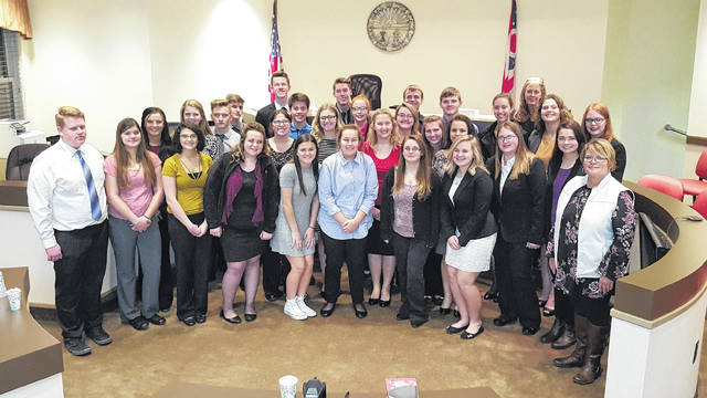 Seniors in the Mock Trial program had a dress rehearal Tuesday at the Gallia County Counthourse.