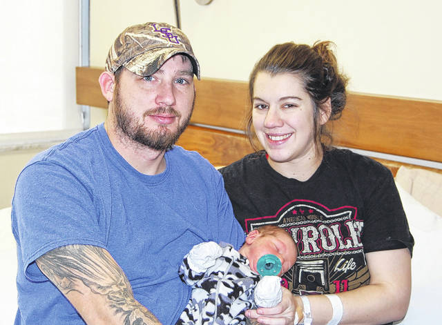 Holzer Health System welcomed its New Year's Baby, Waylen Lee Fowler, born at 5:45 a.m. on Jan. 1 at 8 pounds and 2 ounces and 21 inches long. Shown pictured are Waylen with his parents, Wesley and Alexandria. He is also welcomed by big brother, Colt. The Fowlers are residents of Culloden, W.Va.