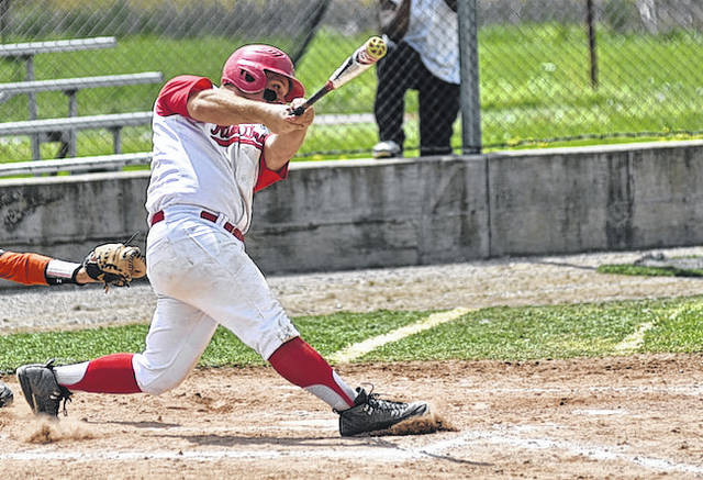 Rio Grande's Cody Blackburn had three hits in the RedStorm's 16-9 game one win over No. 15 Middle Georgia State on Saturday.