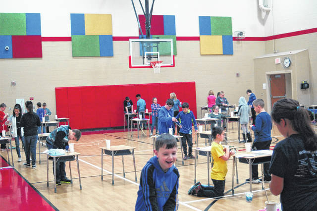Fourth grade students filled the gym at Rio Grande Elementary working on their STEM projects, judged by local professionals in an engineering and science field.