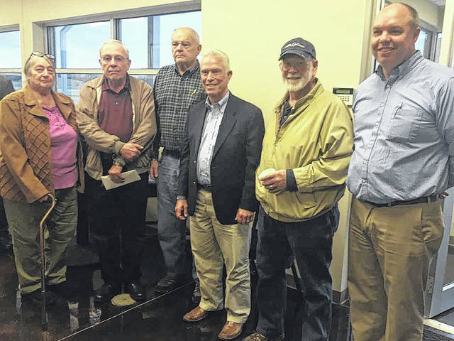 Pictured from left, Jackson County Airport Board members Barbara Summers, Bob Mayhew, Tom Evans, Steve Keller, and Erik Massir are pictured with Congressman Johnson during a recent meet-and-greet.