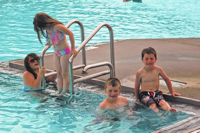 Visitors to the Gallipolis City Pool last summer take a break from the heat. Fundraisers hope to continue to offer the pool as an option to the public with a needed filtration system.