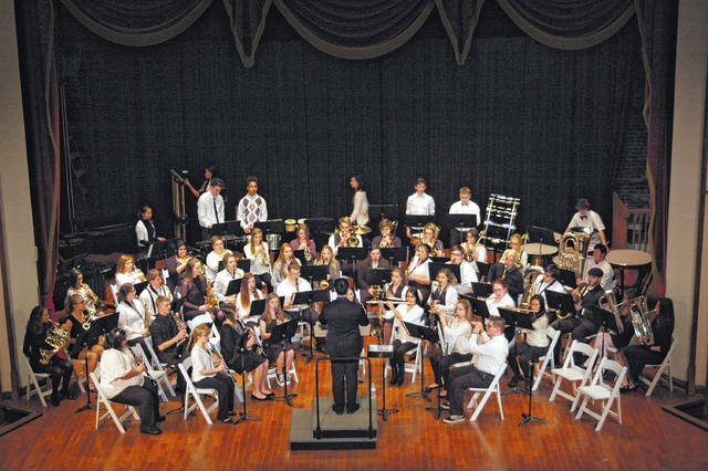 The Gallia Academy Symphonic Band performed their spring music for the public at the Ariel Opera House Thursday evening.