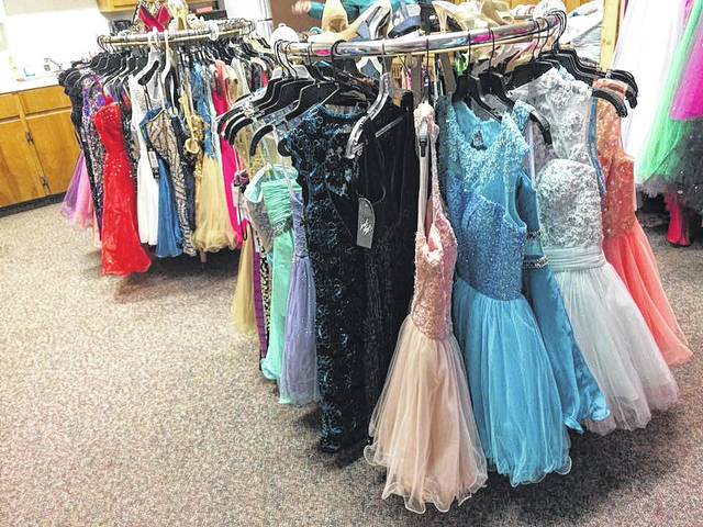 God's Hands at Work still has several hundred dresses for area ladies to peruse.