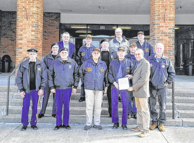 Gallia Commissioners recognized the coming March 29 as National Vietnam War Veterans Day. Among those present at the Thursday meeting were Pete Spencer, Larry Marr, Jon Lynch, Hollis Myers, Jack Bailes, Bill Mangus, Caroll Taylor, Gerald Baker, Michael Plymale, Gary Fenderbosch and William Guinther, along with Gallia Commissioners David Smith and Brent Saunders.