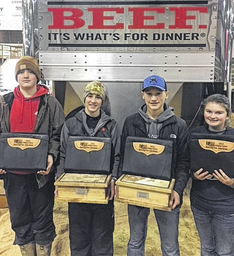 Four members of the Gallipolis FFA Middle School Livestock Judging Team recently placed second overall in the junior division at the Ohio Beef Expo. Team members were Dylan Brumfield, Bryce Hines, Beau Johnson, and Jaden Shriver. Beau was the team high individual at 1st overall; Bryce was 2nd overall. There were 130 participants from throughout Ohio in the junior division.