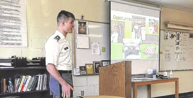 Blake Wilson visited Gallia Academy, his alma mater, Friday afternoon to share his experiences entering West Point.