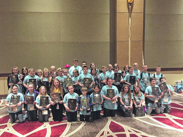 Hanna Trace Elementary School Beta Club members pictured at the Ohio Junior Beta Convention.