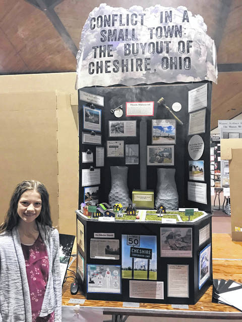 Emma Lucas brought home first place at the state history day competition and is set to compete against national students in June.