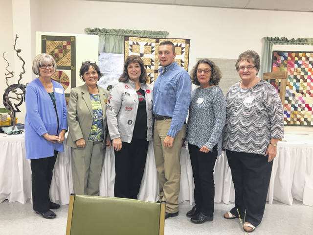 Margaret Murrey (Treasurer), Susie Jenning (New Regional Director), Suzy Parker (OAGC First Vice President), Briggs Shoemaker (Speaker), Babs Sabick (Speaker), Sara Spurlock (Secretary) at the last regional meeting.