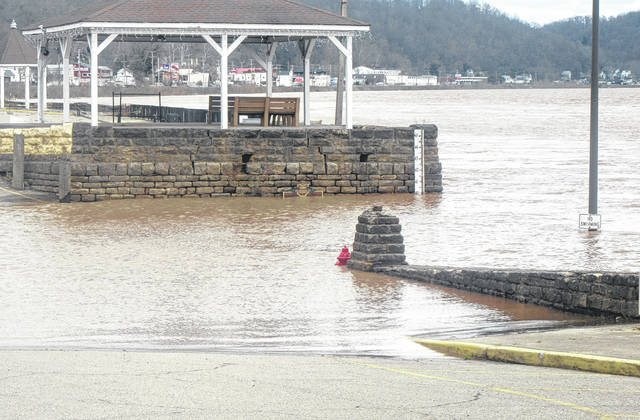 The Ohio River is projected to overflow its banks over the next few days after heavy rains upstream in recent days.