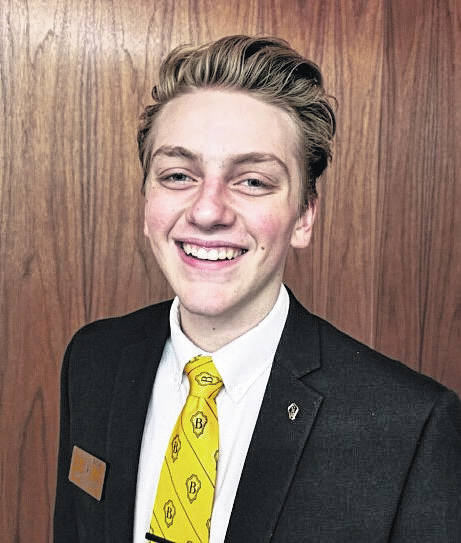 Ian Eblin, a River Valley student, has been selected as a regional leadership representative in a new program within the Beta Club, with hopes to excel at the national level.