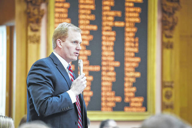 State Representative Ryan Smith (R-Bidwell) addressed the Ohio House of Representatives.
