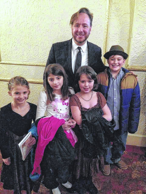 From left are students Avalynn Pugh, Samia Alrawashdih, pianist Thomas Pandolfi, students Lily Willcoxen and Luke Sisson.