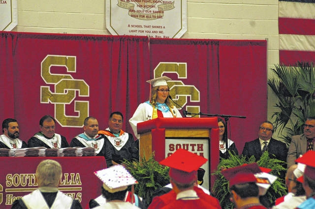 Valedictorian Allorah Johnson gave her remarks and encouragements to her fellow graduating rebels on Saturday, thanking her family, friends, and teachers for helping the class achieve their goals.