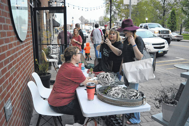 """First Friday"" returned last week with downtown businesses in Gallipolis offering local goods, food and entertainment to area residents who supported the business community by shopping local. The event will continue to be held on the first Fridays of each month, June 1, July 6, Aug. 3, Sept., 7 and Oct. 5, from 6 to 9 p.m."