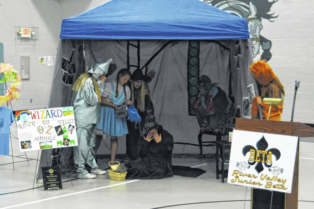 "The living literature competition was a top place category for the raiders presenting a scene from ""The Wizard of Oz."""