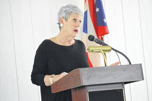 Ohio Supreme Court Chief Justice Maureen O'Connor addresses the Gallia justice community.
