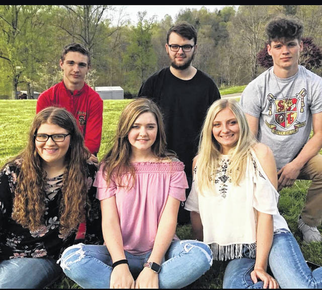 "South Gallia's Prom King and Queen candidates are pictured from left, back row: Austin Stapleton, Nick Johnston, and Tyler Bryan. From left, front row, Brooke Campbell, Erin Evans, and Hannah Shafer. The South Gallia Jr./Senior Prom, ""An Evening Under the Stars"" is this Saturday, May 12, at the Green Valley Gathering Place."