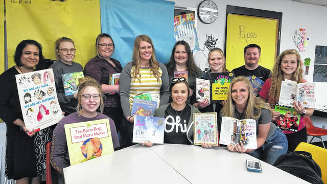 Students in the University of Rio Grande and Rio Grande Community College Bunce School of Education collected 1247 donated books to send to area elementary schools.