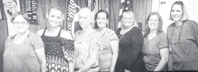 The American Legion Ladies Auxiliary Unit 27 recently installed new officers for the 2019-2020 season. From left to right are Jeannie Beaver, chaplain, McKayla Tate, Sergeant-at-arms, Barbara Hill, president, Linsey Ward, first vice, Pennie Peterson, secretary and treasurer, Kay Fennell, second vice. Installing was Past President Debbie Kemper. Not pictured for the E-Board are Judy Payne and Rose Lawson.