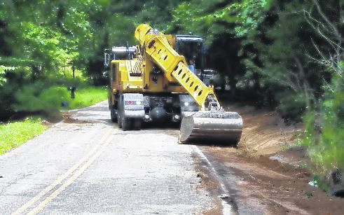 The Gallia Engineers Office purchased a new Gradall in 2017, an essential tool for maintaining roadways throughout Gallia.