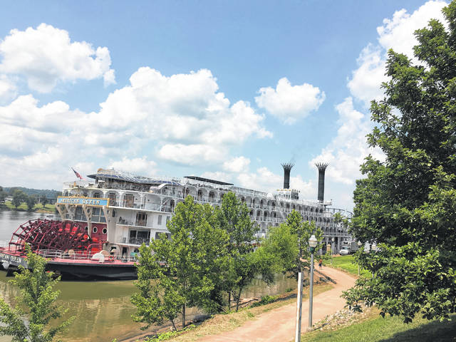 On Friday, Riverfront Park was filled with passengers of the American Queen as well as local spectators. The passengers were given tours during the day of Main Street and Fort Randolph. The American Queen is the largest steamboat ever built and is described as having an interior with an American Victorian era feel, but filled with modern amenities. The ship has is said to have glistening woodwork, fresh flowers, and antiques on board. The American Queen continued her journey up the Ohio River on Friday after the visit to Point Pleasant, and is expected pass by the region again next week on its return journey from Pittsburgh to Louisville.
