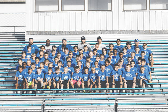 Here are the 2018 Summer Elks Football League campers. Seventy-two campers participated with seven coaches. Little Blue Devils begin playing Aug. 25.