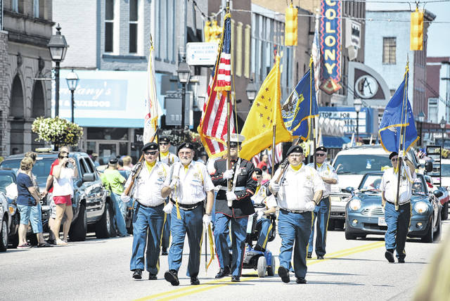 VFW Post 4464 leads the parade along Second Avenue on Wednesday at the 2018 Gallipolis River Recreation Festival
