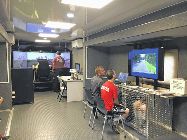 Firefighters took part in training over the weekend with a driving simulator from the State Fire Marshal's Office.