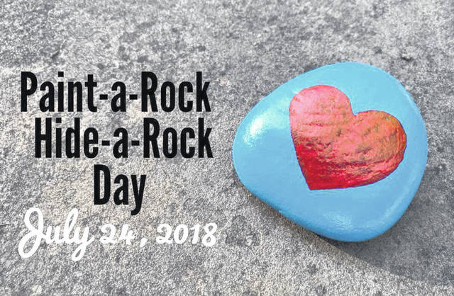 "Tuesday is ""Paint-a-Rock, Hide-a-Rock"" Day."