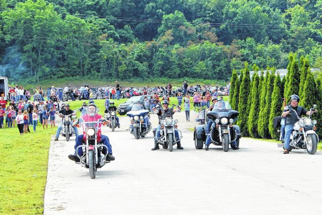 Biker Sunday brings in hundreds of the local residents. The majority of the bikers come from Mason, Meigs, and Gallia counties.