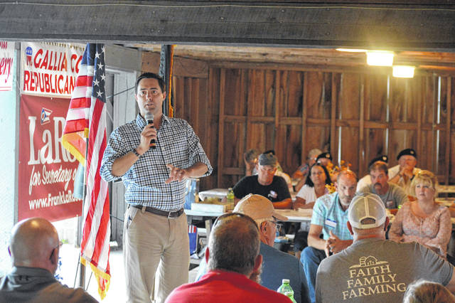 District 27 Ohio State Senator and Ohio Secretary of State candidate Frank LaRose (R-Hudson) served a Gallia GOP Corn Roast keynote speaker along with Speaker of the House and local State Representative Ryan Smith (R-Bidwell).