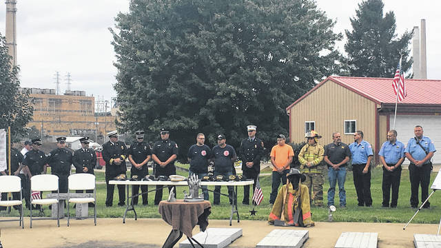 First responders from numerous agencies were on hand for the ceremony on Saturday afternoon.