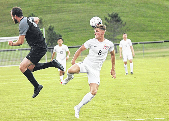 Rio Grande's Harry Reilly had a goal and two assists in Saturday night's 7-0 win over Concordia University at Evan E. Davis Field in Rio Grande, Ohio.