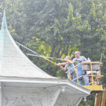 City begins repairs on City Park Bandstand