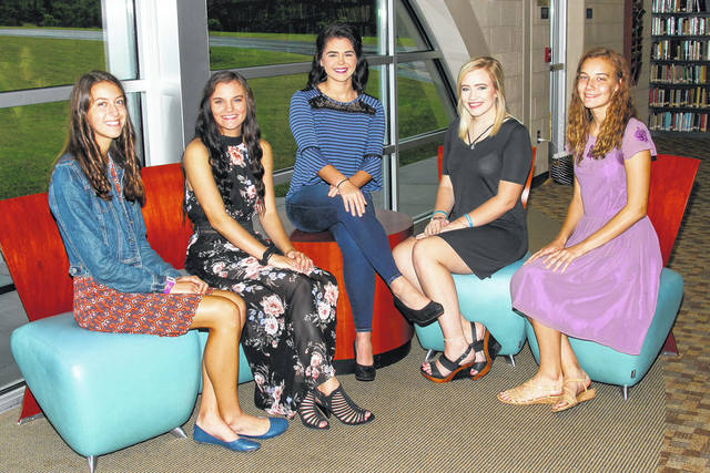 RVHS Homecoming Queen candidates this year are Madisyn Burd, Adi Fox, Morgan Johnson, Julia Nutter and Josie Jones.