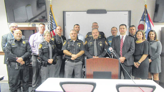 Law enforcement, Prosecutors and other local officials took part in a press conference on Friday morning in Meigs County speaking out in opposition of State Issue 1. Officials from Meigs, Gallia, Jackson, Vinton and Washington Counties were part of the event.