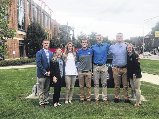 "On October 2, a few student athletes from Gallia Academy High School joined other young men and women at the 2018 OHSAA Foundation Student Leadership Conference at The Ohio State University. The theme at this year's conference was ""Dare 2 Be Great."" Alex Barnes, Ben Cox, Sarah Watts, Riley Starnes, MaKenna Caldwell, Zane Loveday and athletic director Adam Clark accompanied 1,500 other student leaders at the event, making it once again the largest student leadership conference in the nation. The students listened to five speakers ranging from Ohio State basketball alumni James ""JJ"" Sullinger, to motivational coach Harriet Turk. Key talking points focused on how to be leaders, striving for success and overcoming adversity."
