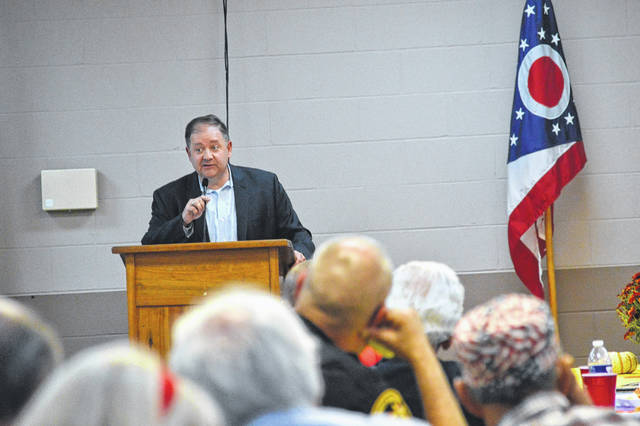 Republican National Committee Co-Chair Bob Paduchik encourages Gallia Republicans to vote in the coming November election.