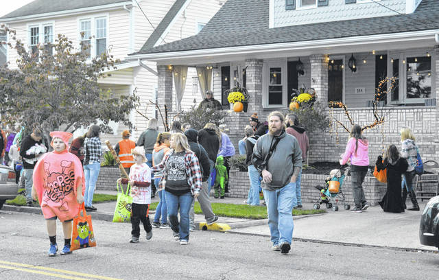 Families crawled across the length and breadth of Gallia County Thursday night as children hunted for treats during the annual candy hunt.