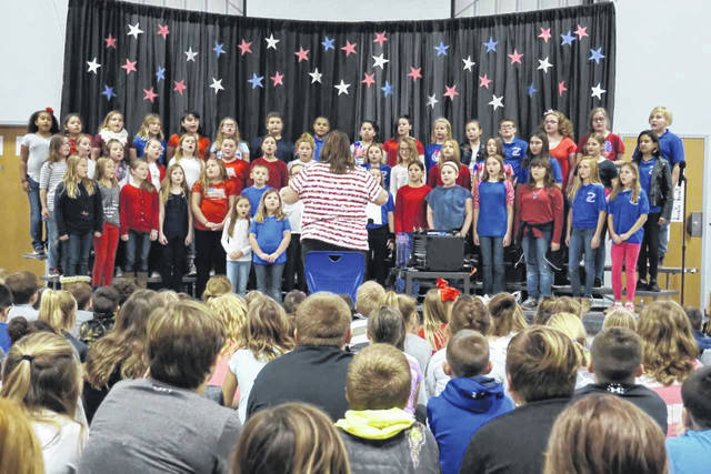 "The New Haven Elementary Chorus, under the direction of Kimberly Bond, performed a Veterans Day concert for students, veterans and the public Thursday afternoon. ""American Heart"" was the theme of the program, with several children also giving readings."