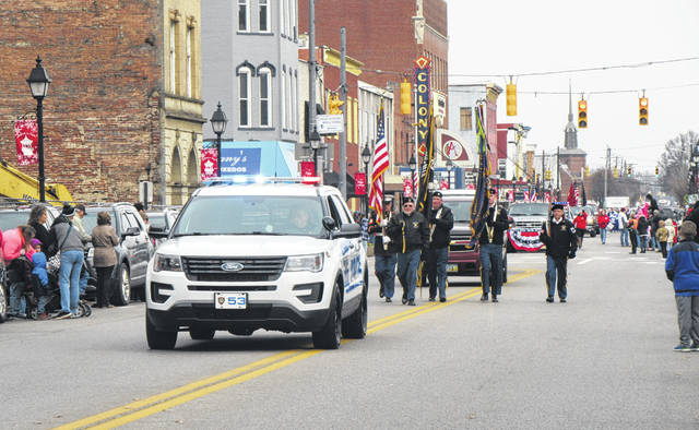 The Gallipolis Police Department escorted the Christmas parade down Second Avenue on Saturday afternoon.