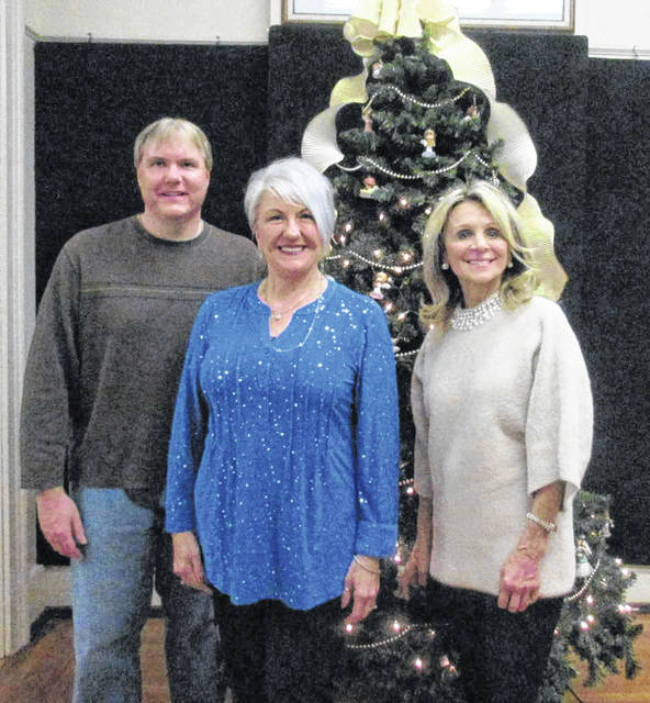 Pictured are some of the organizers of the French Art Colony's annual holiday home tour, Tom Moulton, Cynthia Sexton, Linda Hall.